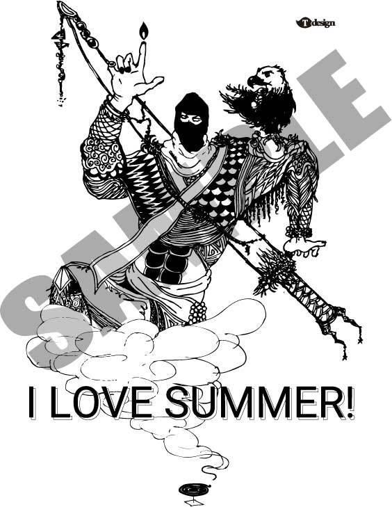 作品名【I LOVE SUMMER!】忍者います 皆さん夏が好きだろうと思って描いてみました!