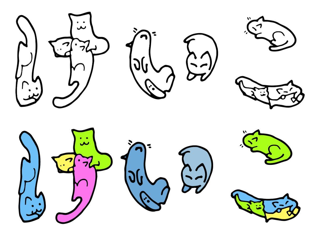 猫文字描きます 猫が体をはって、アクロバティックにあなたの名前を描きます!