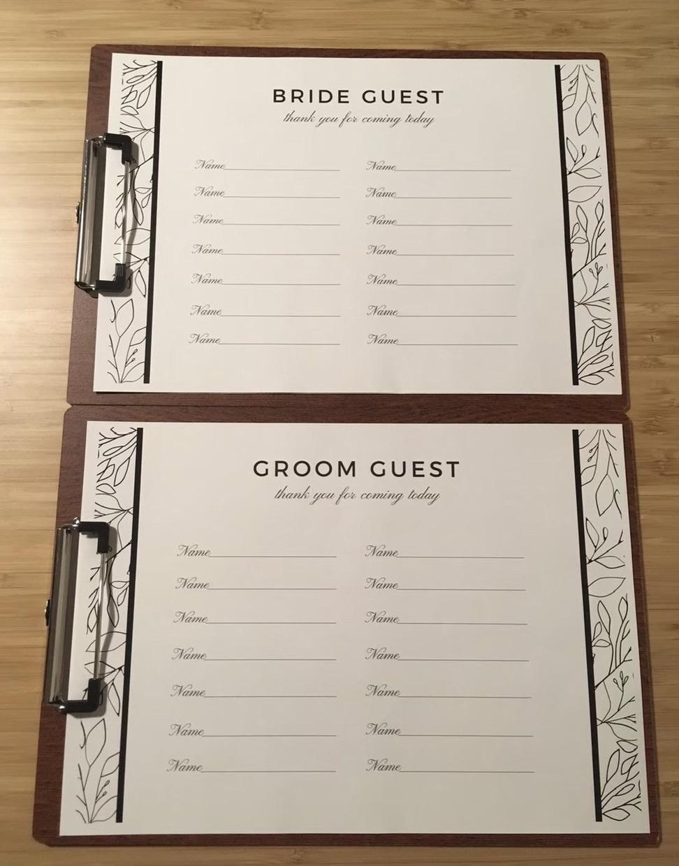 結婚式の芳名帳を作成します 新郎新婦のお名前入り芳名帳(ゲストブック)を作成します♩