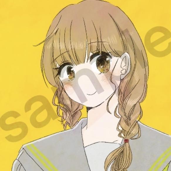 SNSで使えるアイコン描きます イメージであなたを高校生のイラスト化! イメージ1