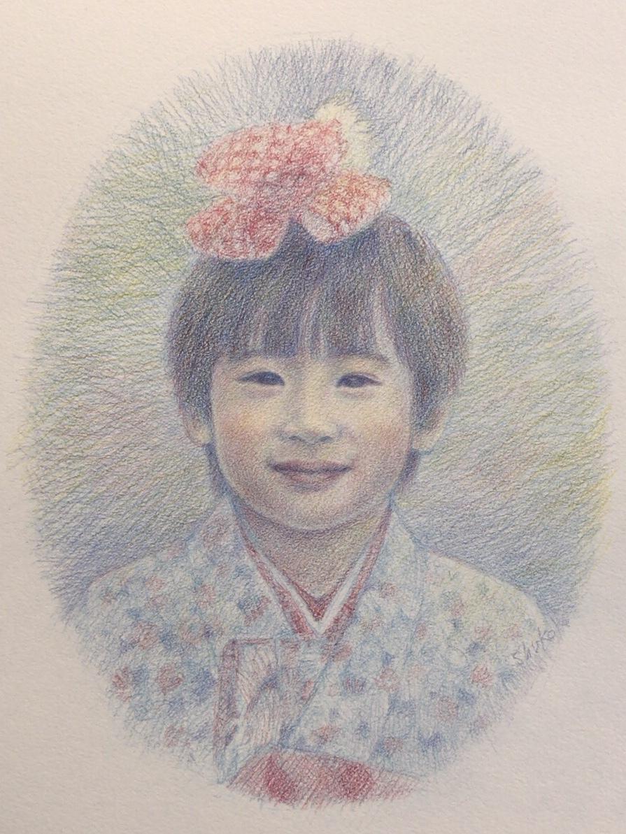 ふんわりレトロ優しいパステル調似顔絵描きます 郵送も可能です☆記念やプレゼント、インテリアにも☆
