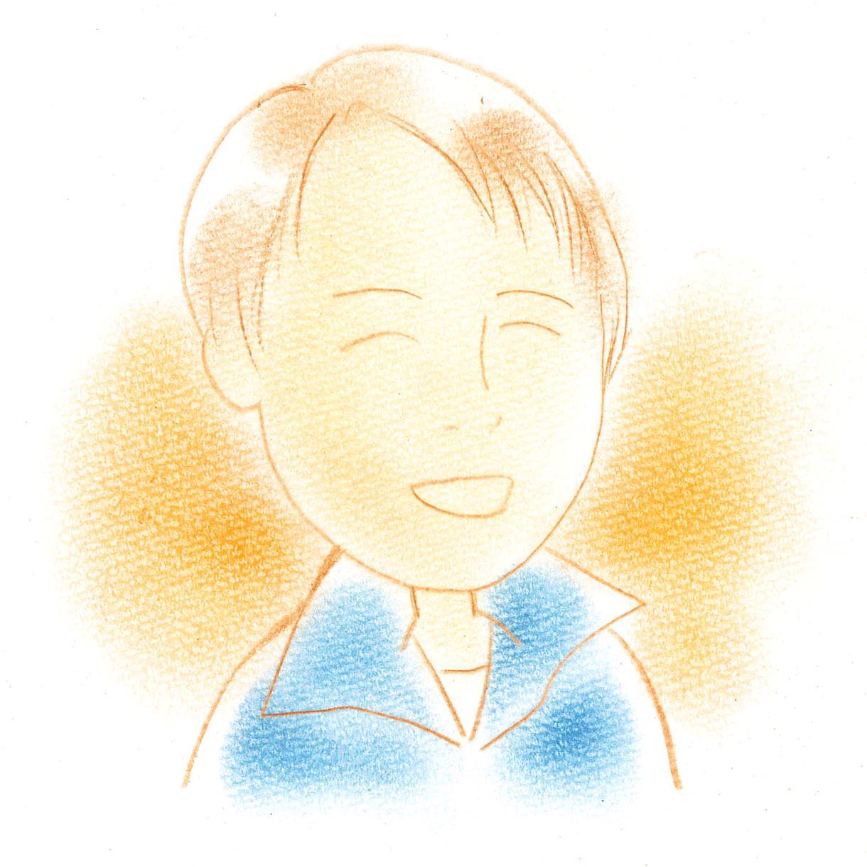 色鉛筆の優しい似顔絵描きます 名刺に入れたり、SNSのアイコンにいかがですか?