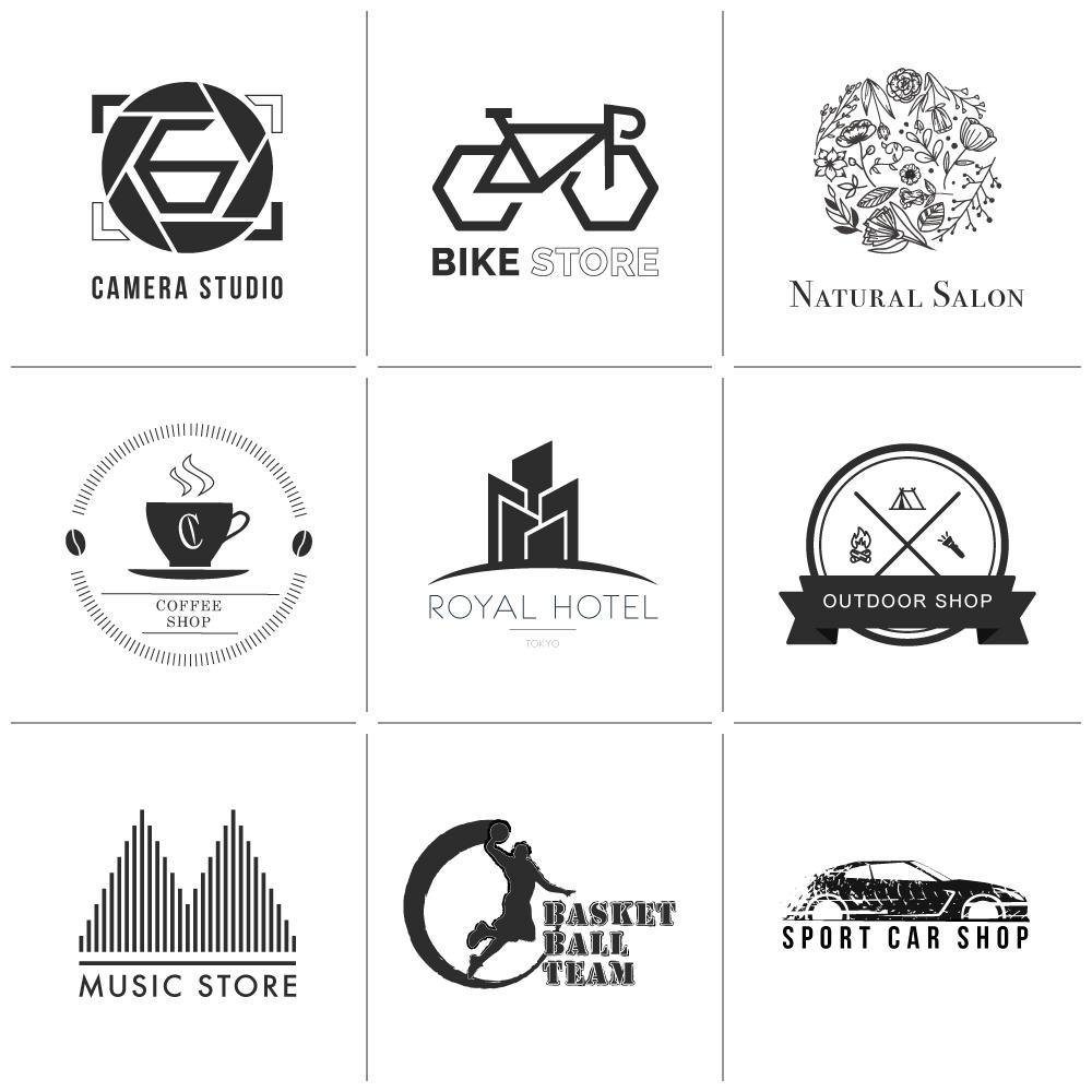 シンプルなオリジナルモノクロロゴ制作します 500円からロゴのデザインを制作【販売実績100以上】