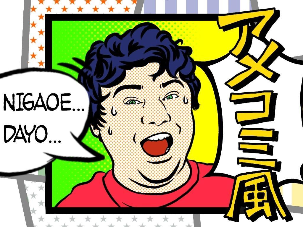 只今お値下げ中★★ アメコミ風の似顔絵描きます ☆アイコン☆名刺☆ブログ☆プレゼント☆結婚式☆誕生日☆