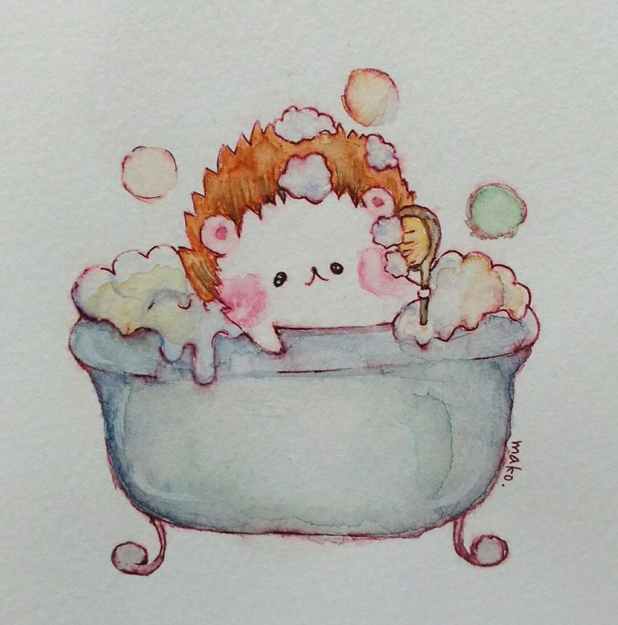 アナログで可愛い動物アイコンお描きします 水彩で可愛い動物イラストアナログでお描きます。