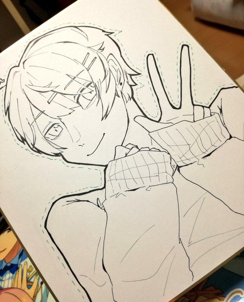あなたのイメージキャラクターを色紙に描きます あなたの固定キャラを色紙に描きます!