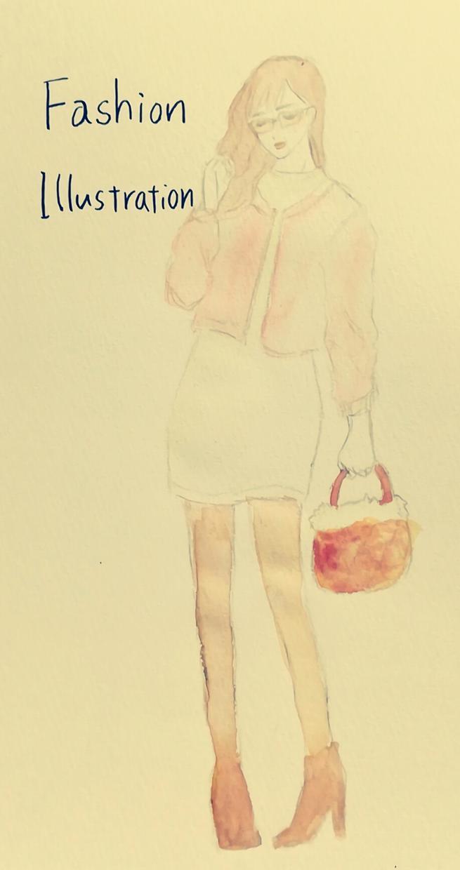 大人かわいい!手描きファッションイラスト描きます ブログ・プレゼントカード等にイラストが欲しい方にオススメ♪