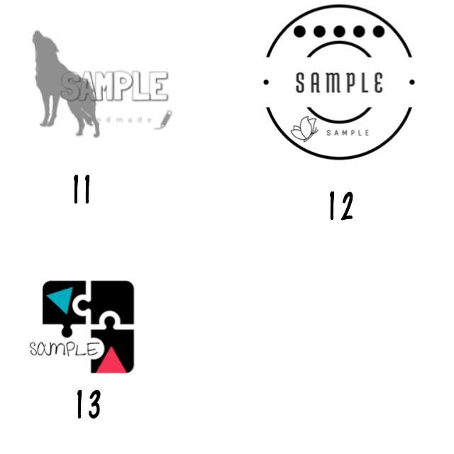 セミオーダー式、ロゴお売りします 見て選んで頂き、好きなロゴをお売りします。