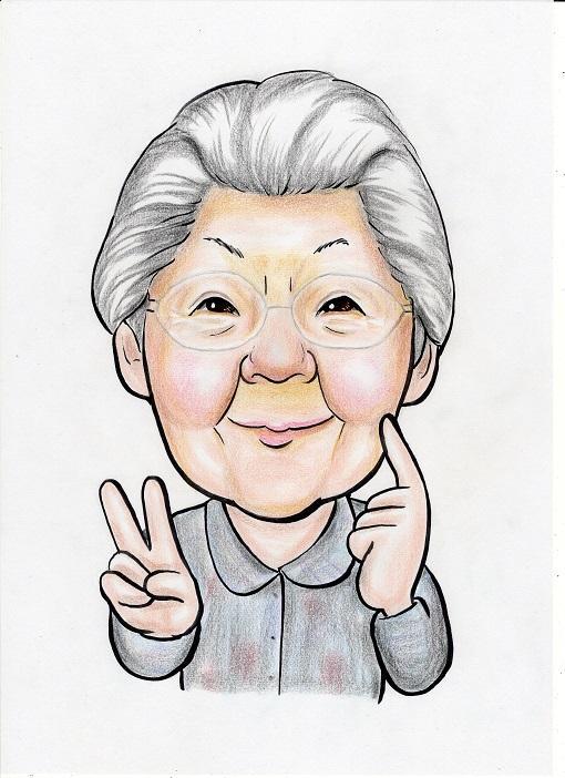 手描きの似顔絵を画像データで送信します プレゼント、記念日、プロフィール、名刺などにご使用ください。