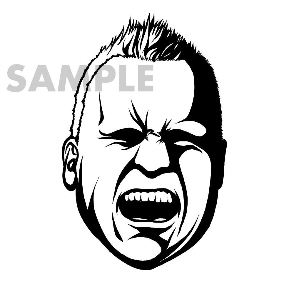 SNSなどで使えるモノクロの似顔絵描きます ♪名刺やSNS、HPなどに似顔絵使ってみませんか?♪