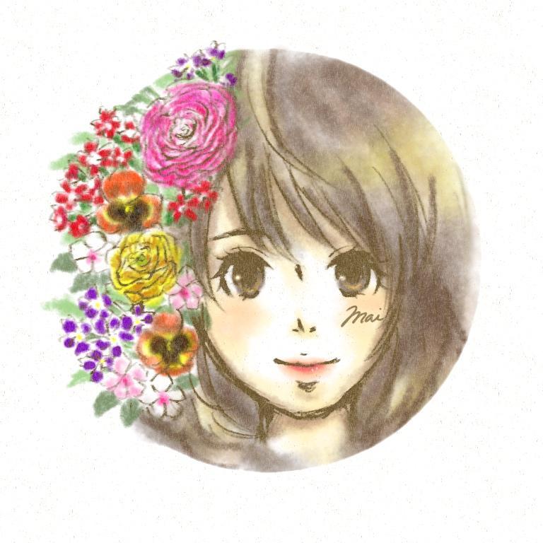 貴方の写真・誕生花・名前でイラストを描きます プレゼントや自分だけのオリジナルのアイコンが欲しい人へ! イメージ1