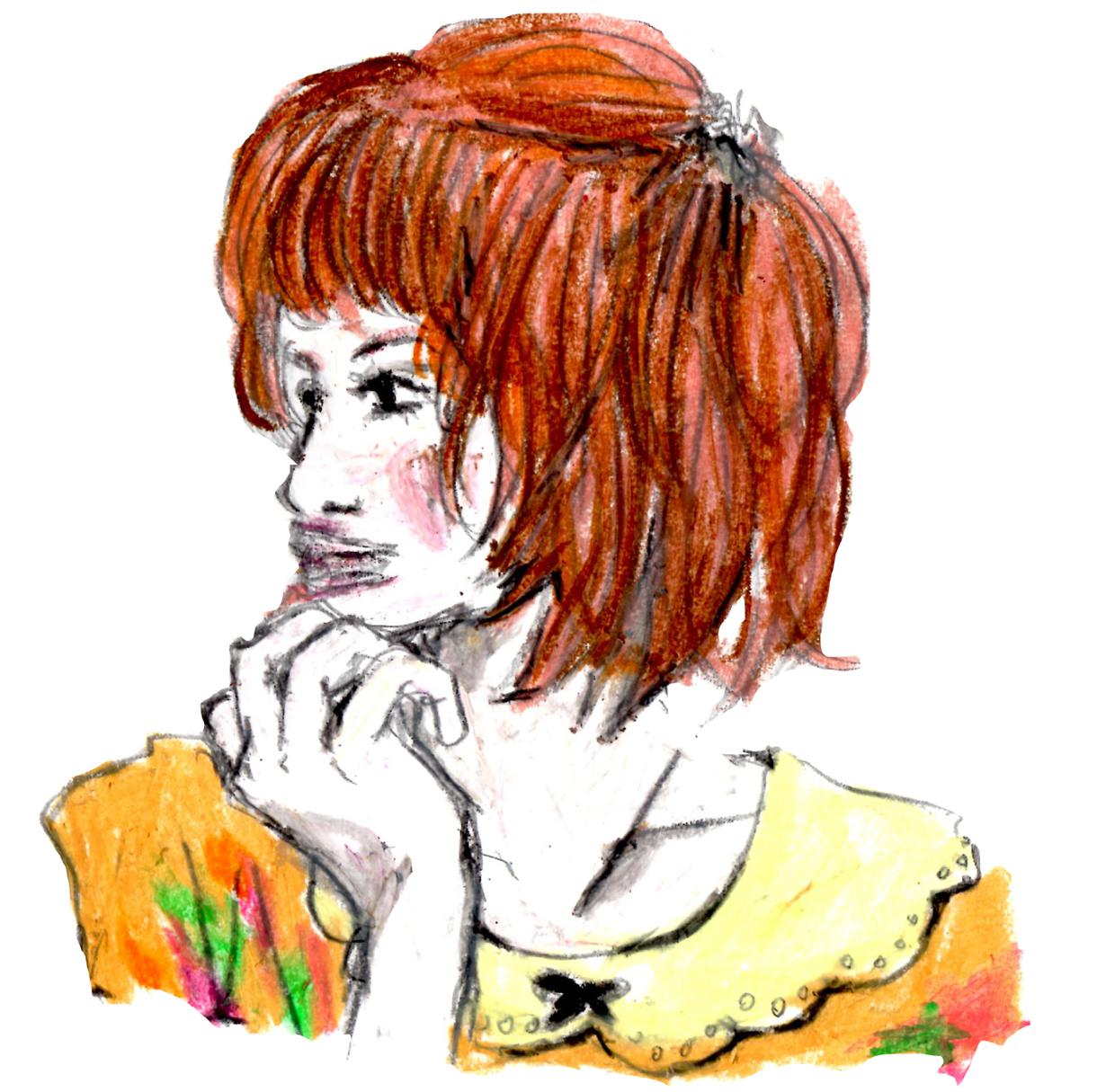 クレヨンでイラスト描きます!