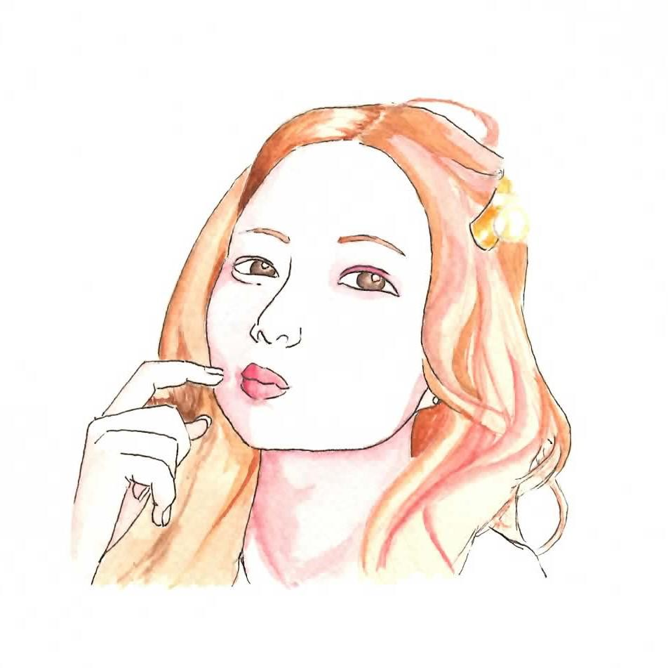 水彩画で似顔絵を描きます アナログな絵がほしい、好きという方へ