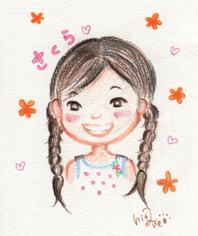 色鉛筆のやさしいタッチで絵本風の似顔絵描きます 大好きなあの人にあたたかいプレゼントを贈りたい方へ(発送可)