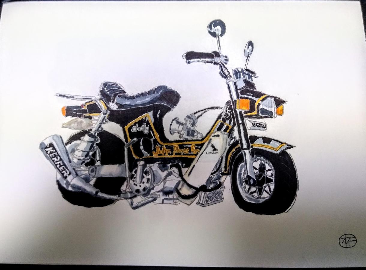 車かバイクのイラストをコピックで描きます 趣味で描いている素人ですがよろしければご依頼ください イメージ1