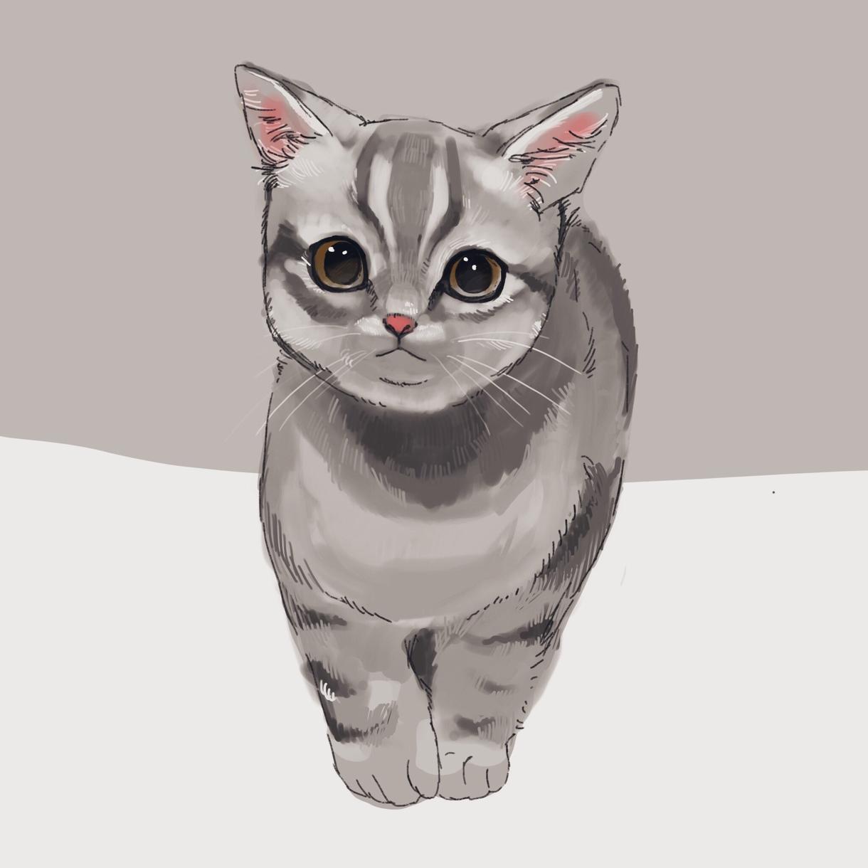 ペットや好きな動物のイラストを描きます SNSのアイコン使用はもちろん、プレゼントにもおすすめです。