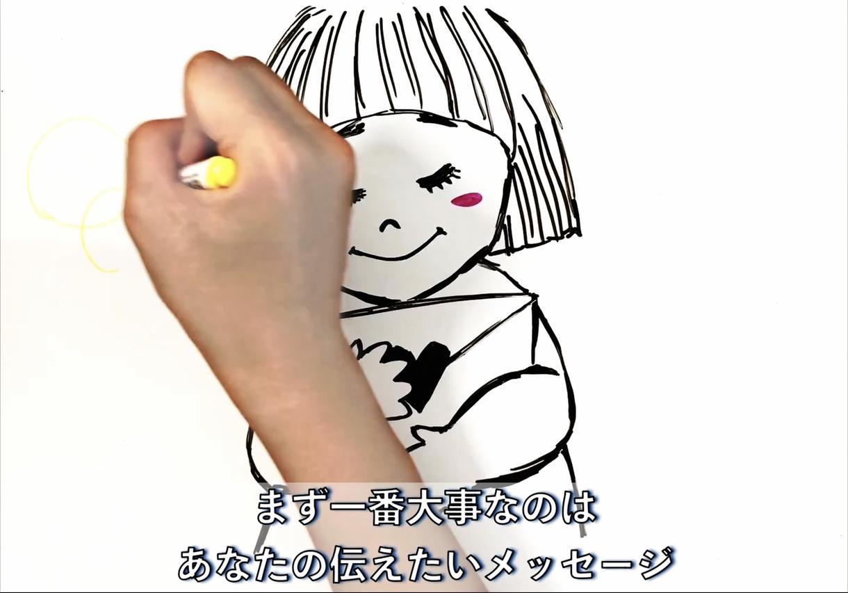 ホワイトボードアニメーションで動画を作成します SNSにちょうどいい!1分前後の手描きのイラスト動画です イメージ1