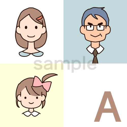 デフォルメした似顔絵をお描きします SNSなどのプロフィール画像に!