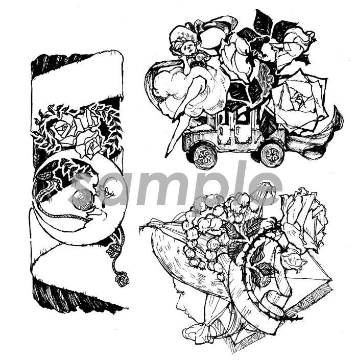 西洋風◆細やかな線画イラスト◆描きます チラシやブログ、冊子などの挿絵にどうぞ♪