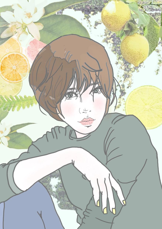 レモンをテーマにしたデジタル似顔絵作ります プロのイラストレーターによる完全オーダーの似顔絵となります!