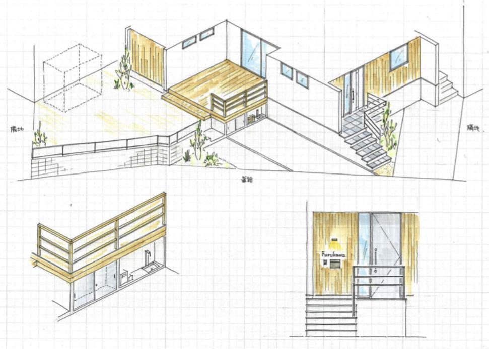 建築家が外構プランを作成します いい提案をしてくれる外構業社に出会えない方にオススメです。