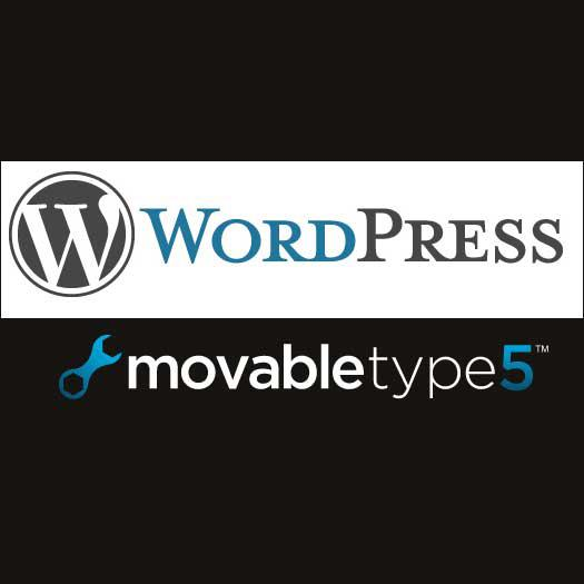 MovableType,WordPressのインストール代行します。
