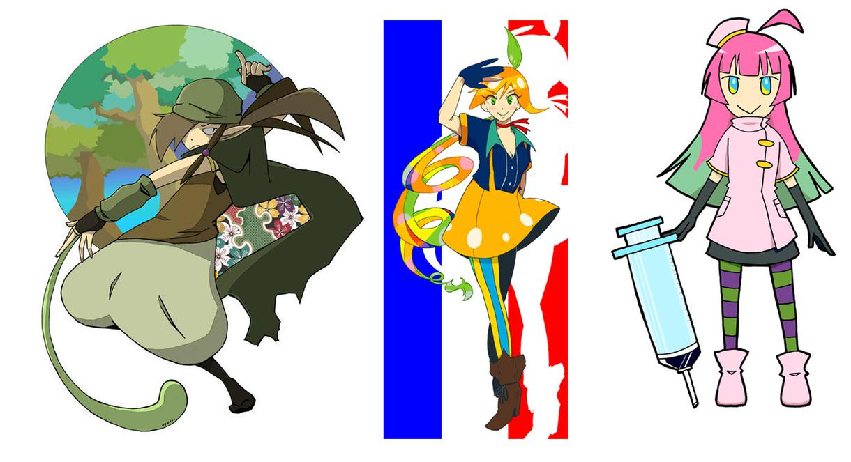 キャラクターデザインの絵仕事を募集中です。