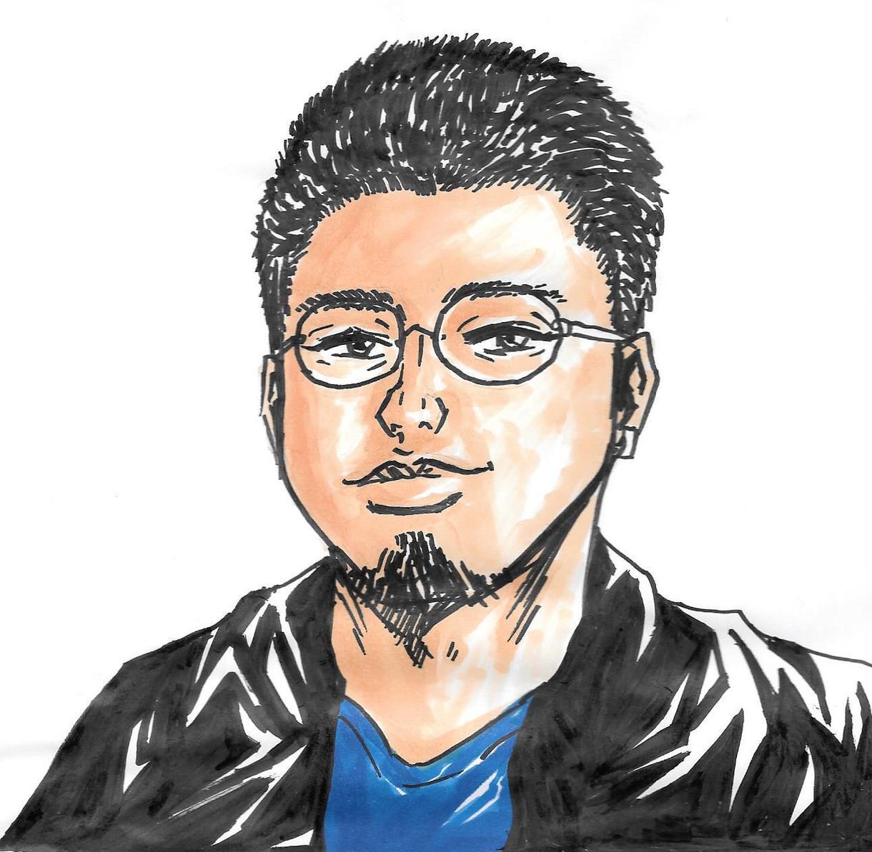 簡単な似顔絵描きます コピックで簡単なアナログ似顔絵描きます(*´∀`*)