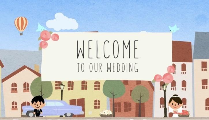 結婚式のプロフィールムービーを制作いたします お手頃価格でかわいいムービー作りますよ!