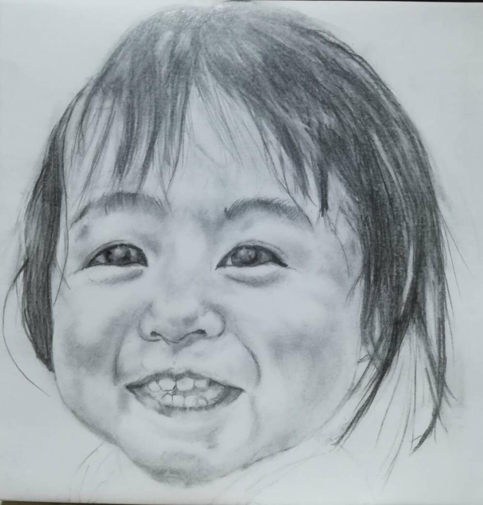 そっくり☆鉛筆で白黒のリアルな似顔絵を描きます 写真と同じリアルな鉛筆画描きます!