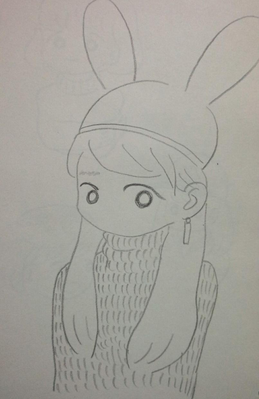 ゆるゆるシンプルな鉛筆画人物イラストを書きます 鉛筆のゆるいタッチが好きな方におすすめです。
