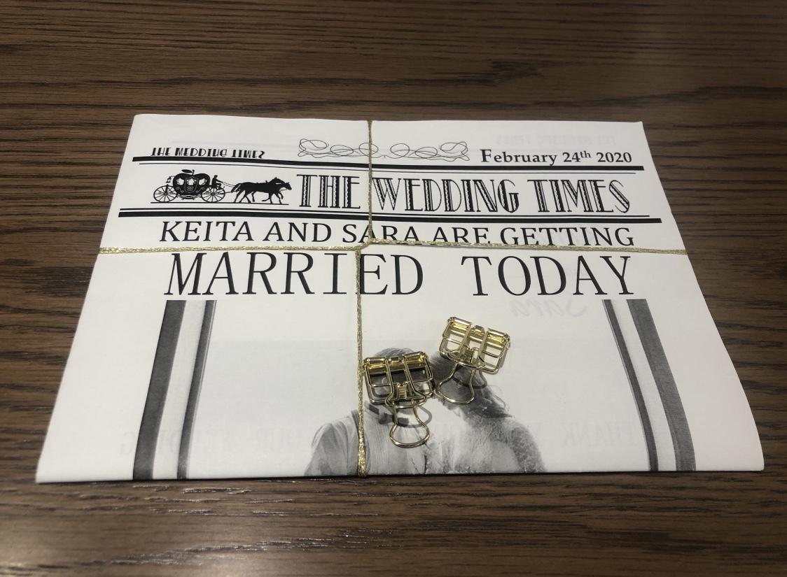 結婚式でのオリジナルペーパーアイテムお作りします 海外風ウェディング新聞〜THE WEDDING TIMES〜 イメージ1