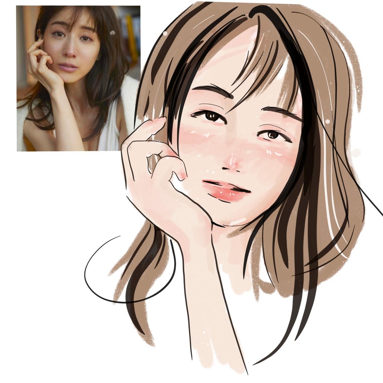 SNSアイコンや名刺、プレゼント用似顔絵作成します 個性あり可愛いオシャレイラスト
