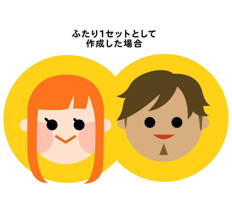 フラットでシンプルな似顔絵描きます Twitterやブログのアバターにも最適!
