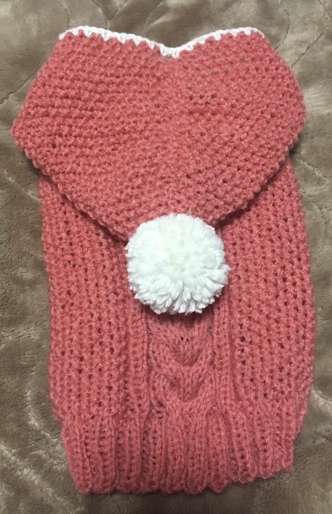 わんちゃん、猫ちゃんの手編みセーター編みます オーダーで一目一目丁寧に編み上げます。