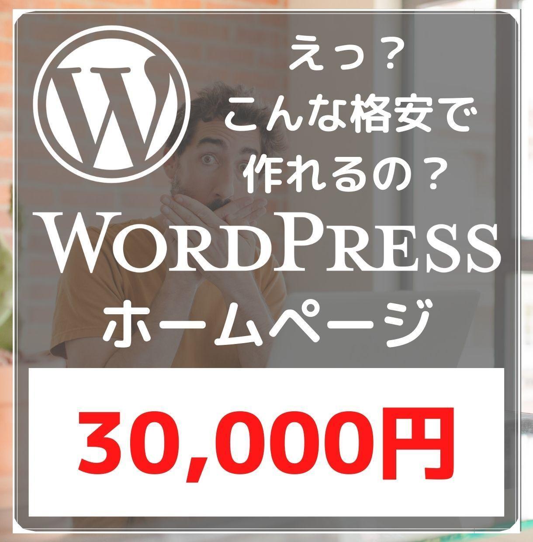 WordPressであなたのホームページ作ります 【スマホ対応込み・3ページまで】格安 / 短期間 / 高品質 イメージ1