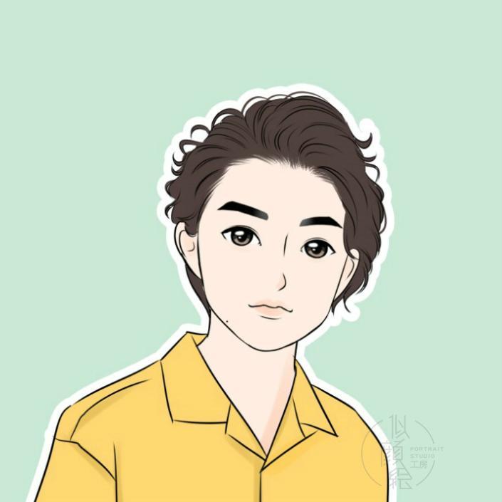 手描き感を残したかわいい似顔絵作成いたしますます 手描き感のあるかわいい似ていなくても良い似顔絵が欲しい方に