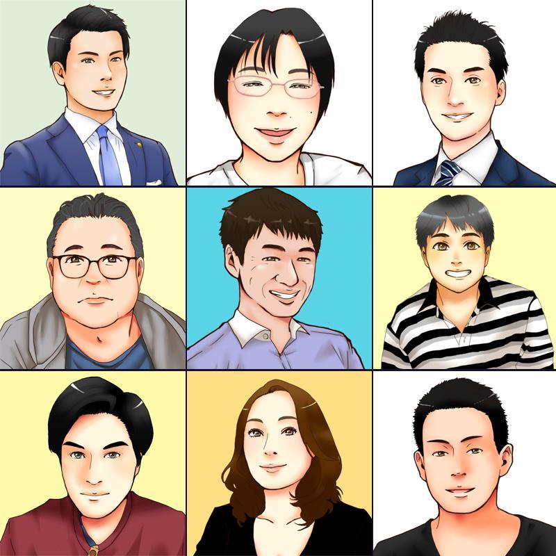 お試し価格!デフォルメした似顔絵アイコン描きます SNSやブログ・ココナラなどのプロフィールに最適です!
