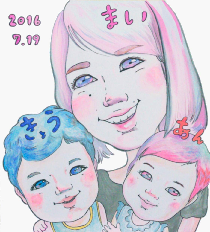 お洒落でアートな似顔絵制作いたします 結婚式のウェルカムボード・お誕生日やお子様・家族の記念に!