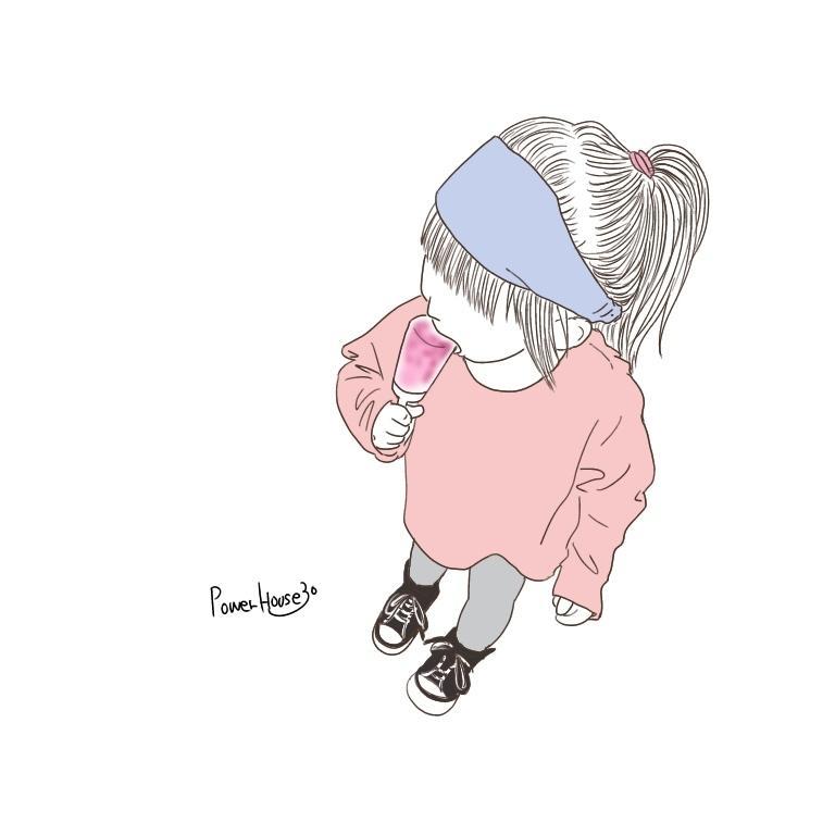 オルチャン韓国風のおしゃれ可愛いイラスト描きます SNSアイコンや挿絵・パッケージなどにも♩