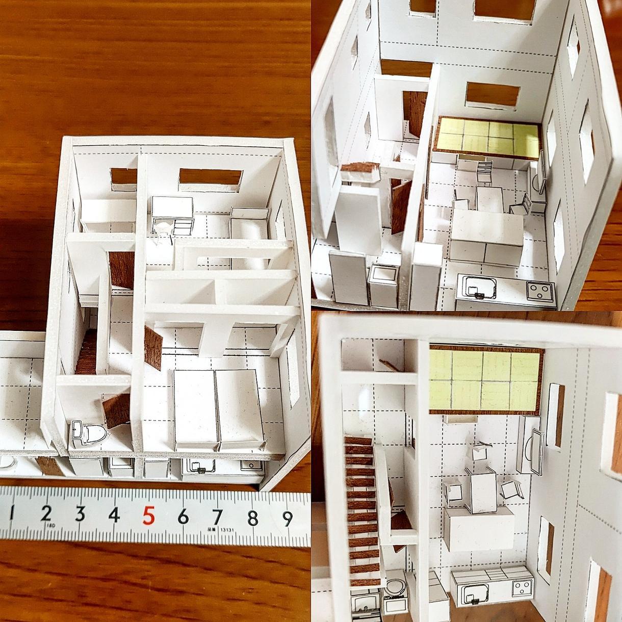 新築住宅の建築模型制作致します 手にお取り頂いて空間をよりイメージできます。 イメージ1
