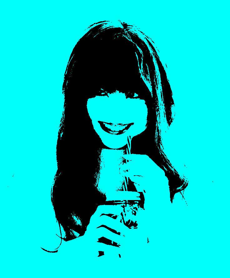あなたの写真をポップアート風にします おしゃれなLINE,Twitterアイコンが欲しい方に!