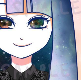 超綺麗!ギャラクシー系の可愛いアイコン描きます 唯一無二の宇宙カラーをあなたに。