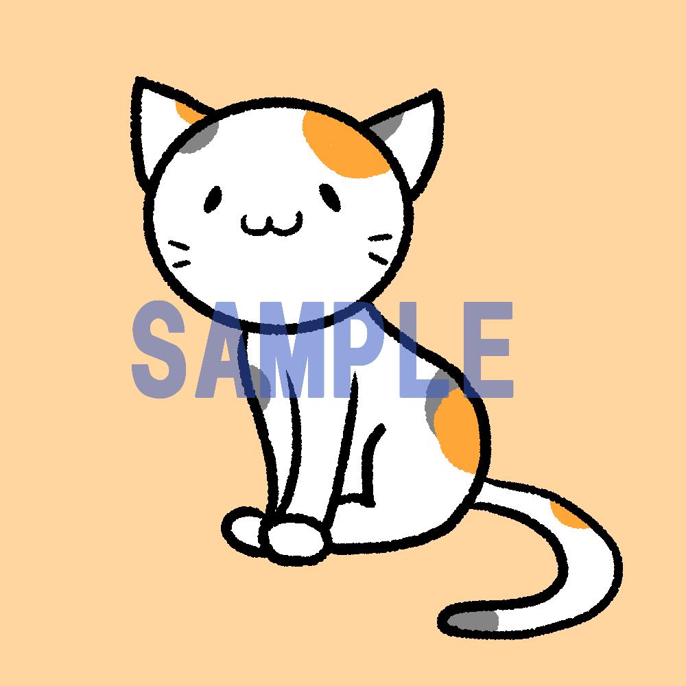ゆるくてシンプルな動物アイコンお描きします 背景(単色カラー)と背景透過分2点セット イメージ1