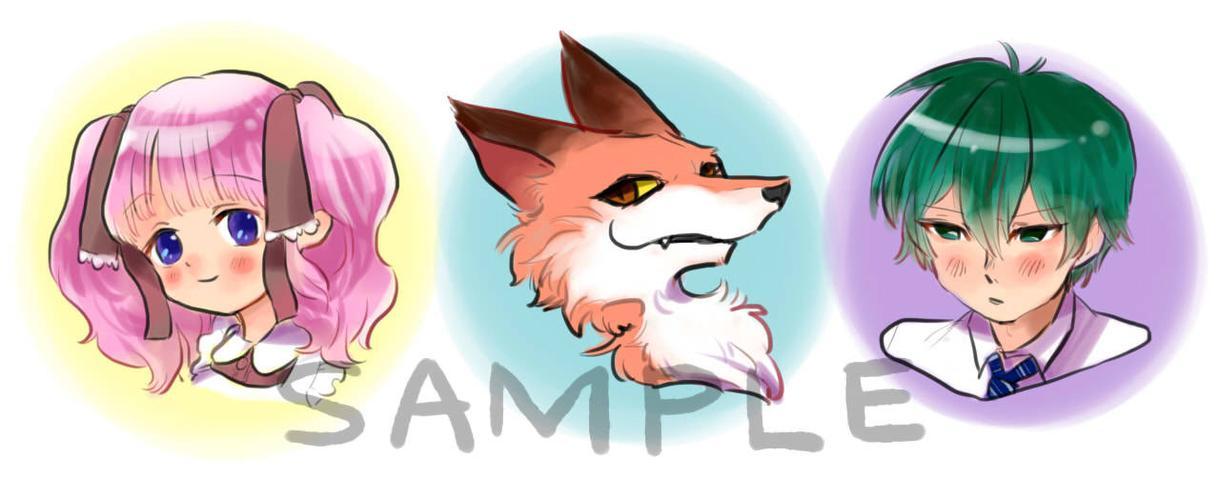 SNS用アイコン描きます お好きなキャラクターを2頭身に可愛いく変身!