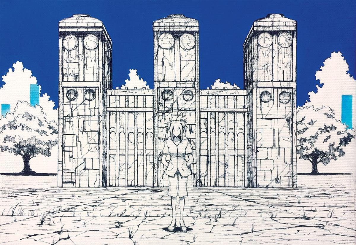 部屋に飾れるサイズのイラスト、風景画を描きます ファンタジー、SF世界が好きな方々へ。