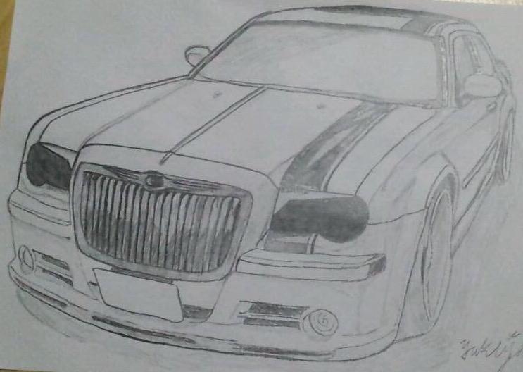 あなたのお車の写真をシャープペンシルにて作成いたします。