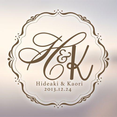 【結婚式や記念日に】2人だけのオリジナルロゴを製作致します
