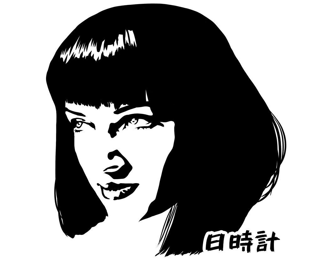 即日納品!モノトーン似顔絵が制作できます オシャレなモノトーン似顔絵を即日制作いたします!!