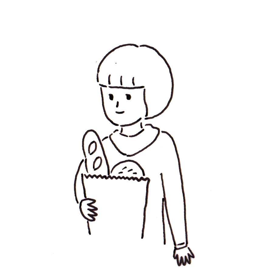 商用OK★シンプル可愛いモノクロ線画を描きます 似顔絵や挿絵に!シンプルでも温かみのある線がポイントです! イメージ1